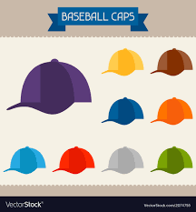 Baseball Design Templates Baseball Caps Colored Templates For Your Design In
