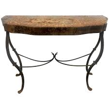 iron console table. Wrought Iron French Console Table With Deep Patina
