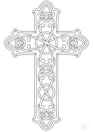 Cross Coloring Pages Drawn Cross Coloring Page Cross Coloring Pages