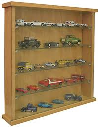 small wall display cabinet wood case glass door shelves for miniature collection