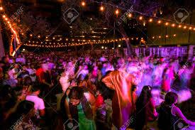 Festival Of Lights San Antonio San Antonio Texas November 4 2017 Motion Blur Of People