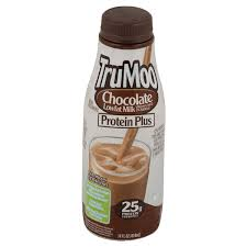 trumoo protein plus chocolate lowfat milk 14 oz