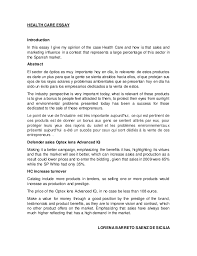 health care essay health care essay introduction in this essay i give my opinion of the case health care