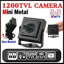 17hot metal mini hd 1 3cmos real 1200tvl cctv mini camera 3 6mm lens security surveillance color indoor home video have bracket