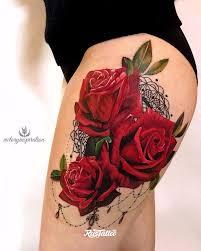 фото татуировки розы в стиле графика лайнворк реализм цветная