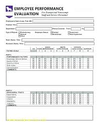 Free Employee Evaluation Forms Printable Luxury Weekly Supervisor ...