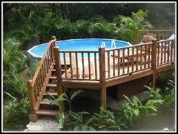 above ground pool deck kit