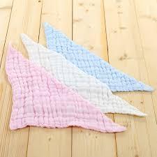 Newborn Cotton Bib For 6 layer Towel Gauze Muslin Washcloth Bib ...