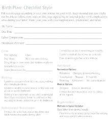 Sample Natural Birth Plan Example Birth Plan Template Word Free Editable Example Birth