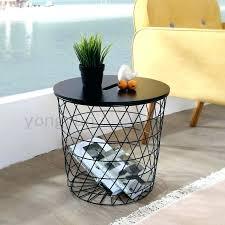 wire basket side table basket side table modern minimalism storage baskets living room furniture metal wire