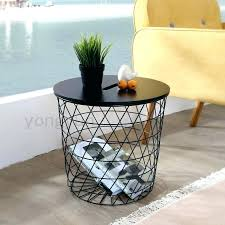 wire basket side table basket side table modern minimalism storage baskets living room furniture metal wire
