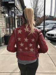mauritius womens leather jacket christy star red 3