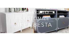Kitchen Sideboard Ikea Ikea Hack Besta Cabinet Two Ways Youtube