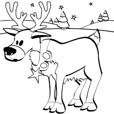 Small Picture Reindeer Coloring Pages