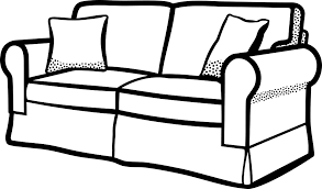 furniture set clipart black and white. couch furniture sofa interior seat set clipart black and white o