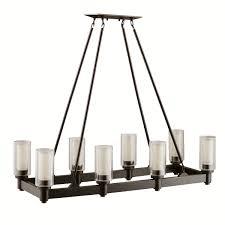 brushed nickel dining room light fixtures. Kichler 2943OZ Circolo Linear Chandelier 8-Light, Olde Bronze - Chandeliers Amazon.com Brushed Nickel Dining Room Light Fixtures E