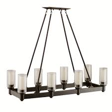 kichler 2943oz eight light linear chandelier chandeliers com