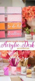 cool office gear. Fun DIY Ideas For Your Desk - Kate Spade Inspired Acrylic Organizer Cubicles Cool Office Gear S