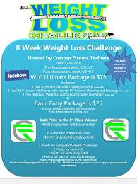 Custom Fitness 2016 Weight Loss Challenge Custom Fitness