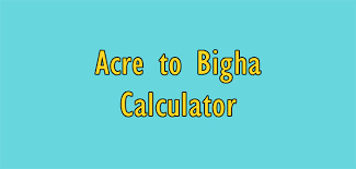 1 Acre To Bigha In Area Measurement Calculator Simple