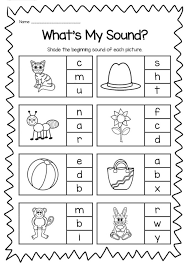 Get all these free phonics worksheets to help students become more comfortable with reading. Beginning Sounds Printable Worksheet Pack Kindergarten Phonics Phonic Letter Worksheets Phonic Letter Sounds Worksheets Worksheets Grade Five Lessons Multiplication Games To Print Math Symbol For Integers Free First Grade Phonics Worksheets Fun