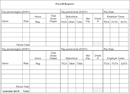 Free Pay Stub Templates Word Sample Formats Payroll Register