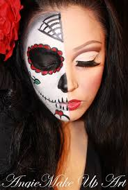 face painthalf sunkissedandmadeup half candy skull makeup tutorial