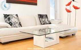 beveled tempered rectangle glass table top