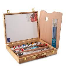daler artist oil paint deluxe wooden box set expert gift set gifts jackson s art supplies