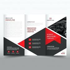 Brochure Trifold Template Free Red Leaflet Template Free Vector Free Tri Fold Flyer