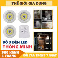 Bộ 3 Đèn LED Mini Gắn Tường Tủ, Có Điều Khiển Từ Xa, Có Chức Năng Hẹn Giờ  Tắt tại TP. Hồ Chí Minh