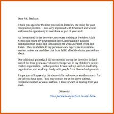 thank you letter interview thank you letters after job interview free pdf