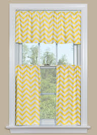 Yellow And White Kitchen Yellow And White Kitchen Curtains With A Chevron Design