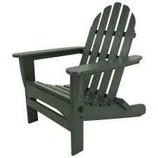 classic green plastic patio adirondack chair
