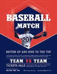 Baseball Brochure Template Rar Descargar Baseball Match Flyer Template