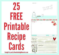 Printable Note Cards 3x5 3 X 5 Recipe Cards Recipe Index Cards Recipe Card Template 5 Editable