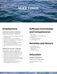 Resume Formats For Engineering Students Mechanical Engineering