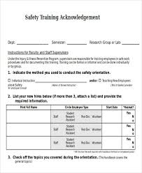 Training Acknowledgement Letter Templates 8 Free Word Pdf Format