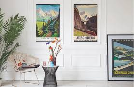 'Austria sterreich' 1960s poster, 350; 'Ltschberg' 1937 poster, 650;  'Visitez la France Lakes of Massif Central' 1954 poster, 375, all Antikbar.