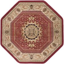this review is from sensation red 8 ft traditional octagon area rug