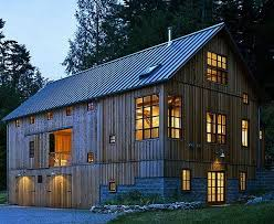 Photo compilation of converted barn homes.