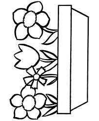 fun coloring pages easy coloring pages free printable flowers in a pot easy coloring