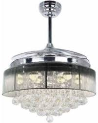 interior retractable ceiling fan new chandelier dimmable led modern with regard to 27 from retractable