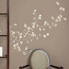 Peel And Stick Wall Decor Roommates Rmk1677gm Silver Dollar Branch Peel And Stick Giant Wall
