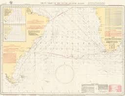 Pilot Chart Of The South Atlantic Ocean By U S Navy On Ursus Books Ltd