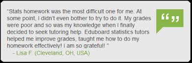 statistics homework help from will improve your academic  customer testimonial on statistics homework help tutoring