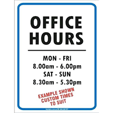 Hours Of Operation Template Free Hours Of Operation Sign Template