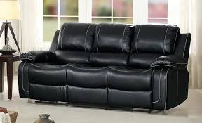 black recliner couch. Plain Black Homelegance Oriole Black AirHyde Match Reclining Sofa 8334BLK3 On Recliner Couch V