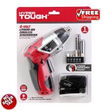 Hyper Tough 2 In 1 Magnetic Light Cordless Recharg Able Li Ion Screwdriver Electric Hyper