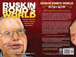humming words my art on cover page  months back when made a pencil colour sketch of my favorite author mr ruskin bond i had not imagined that it will appear on the cover page of a book